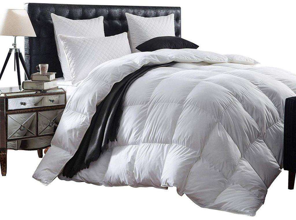 Down Alternative Comforter 1000 TC Egyptian Cotton 200//300 GSM Fiber Fill Solid